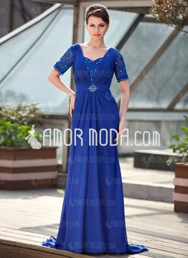 مدل جدید لباس شب آبی پر رنگ