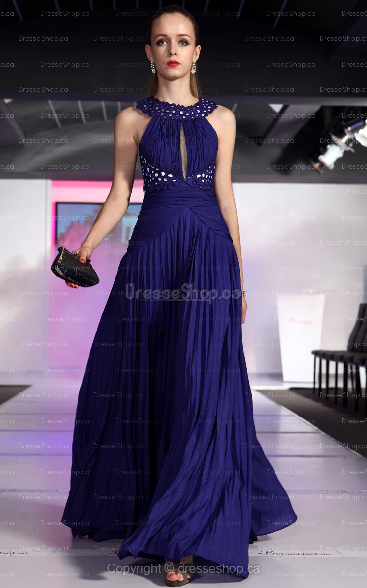 a line scoop chiffon floor length royalblue pleats evening dressd02021164 لباس مجلسی و لباس عروس 2013
